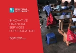 Innovative Financial Services for Education