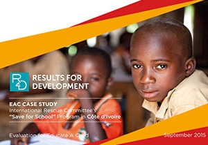 """EAC Case Study: International Rescue Committee's """"Save for School"""" Program in Côte d'Ivoire"""