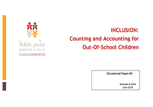INCLUSION: Counting and Accounting for Out of School Children